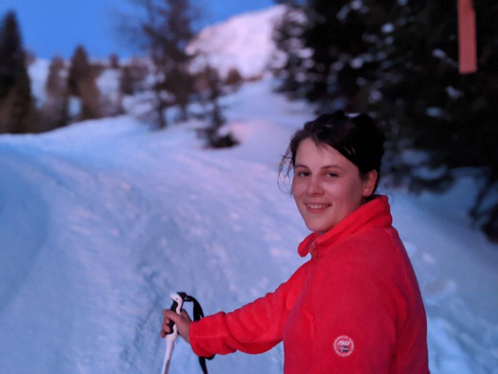 Sélène à ski de randonnée